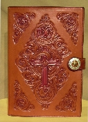 Floral Carved Bible Cover