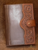 Floral Carved Journal Cover